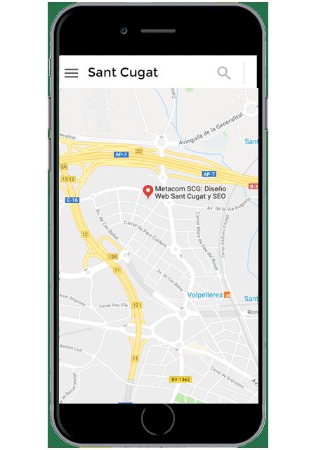 Mapa de Sant Cugat en Google Maps versión Móvil