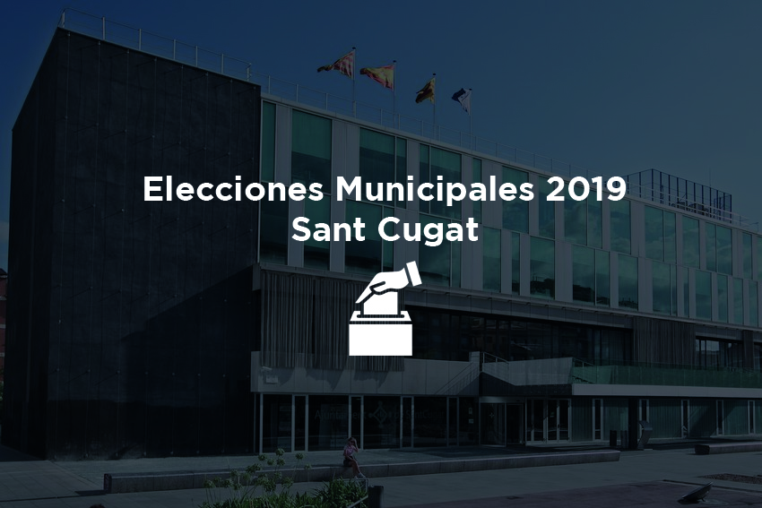foto de elecciones muncipales 2019 en Sant Cugat del Valles