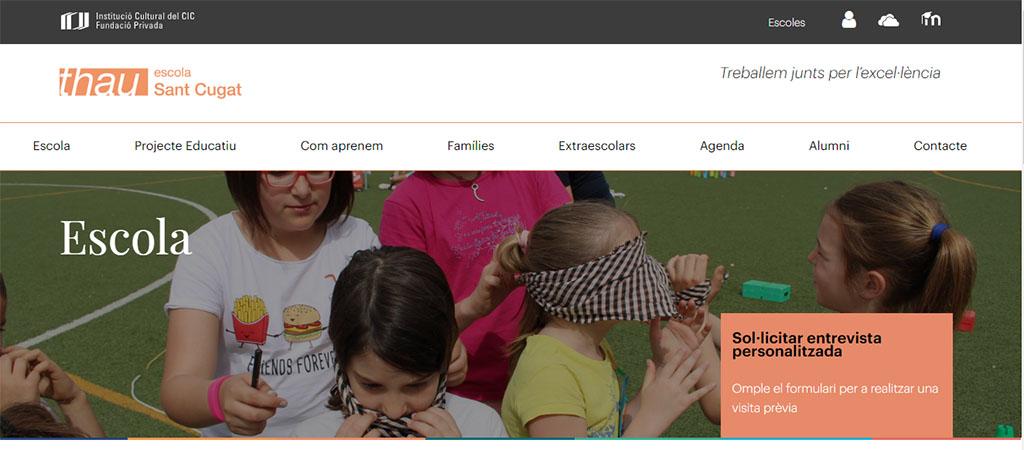 captura de la web de la escuela Thau
