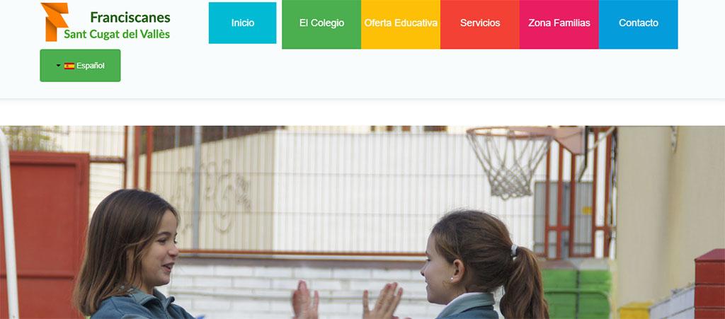 captura de la web del colegio Franciscanes de Sant Cugat