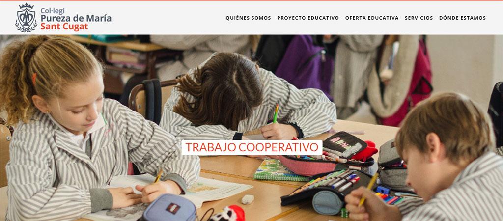 captura de la web del colegio Pureza de María